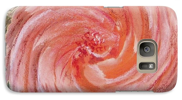 Galaxy Case featuring the painting Rose In A Twirl by Richard James Digance
