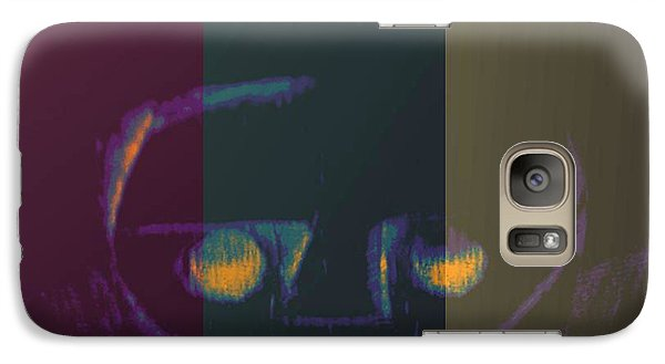 Galaxy Case featuring the digital art Sadness Or Not by Holley Jacobs