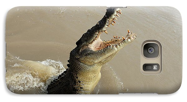 Salt Water Crocodile 2 Galaxy Case by Bob Christopher