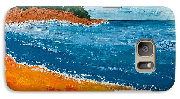 Galaxy Case featuring the painting Seascape by Judi Goodwin