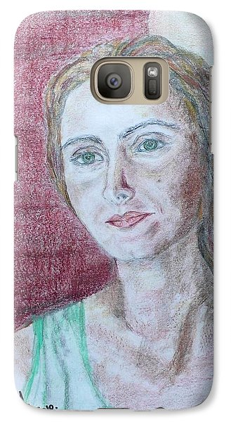 Galaxy Case featuring the drawing Self Portrait by Anna Ruzsan