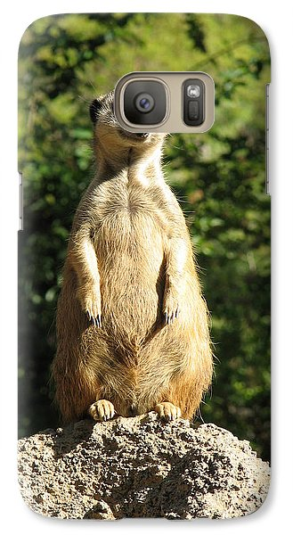 Galaxy Case featuring the photograph Sentinel Meerkat by Carla Parris