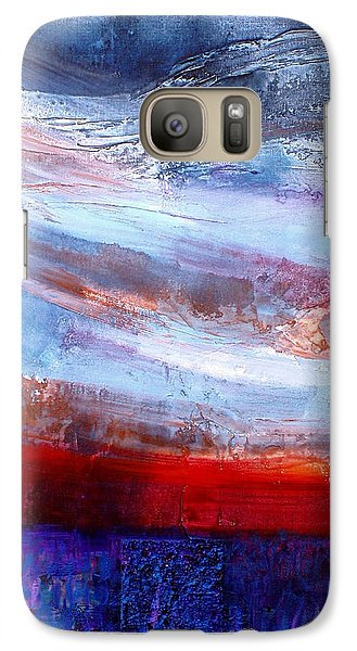Galaxy Case featuring the mixed media Sunset Sky by Walter Fahmy