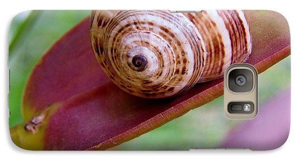 Galaxy Case featuring the photograph Snail On Leaf by Werner Lehmann