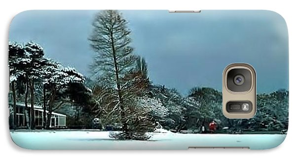 Galaxy Case featuring the photograph Snow In Poole Park by Katy Mei