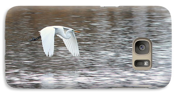 Galaxy Case featuring the photograph Snowy Egret Flight by Mark J Seefeldt