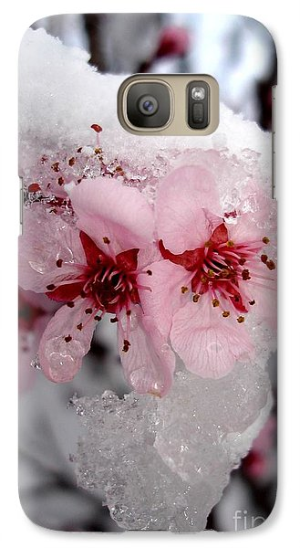Galaxy Case featuring the photograph Spring Blossom Icicle by Kerri Mortenson