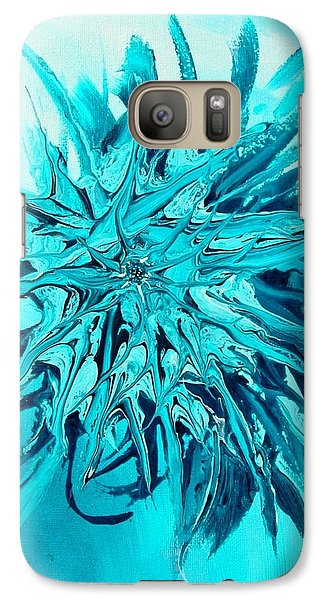 Galaxy Case featuring the painting Star Burst by Mary Kay Holladay