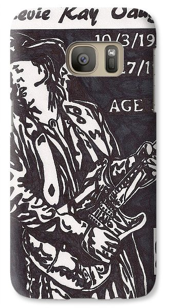 Galaxy Case featuring the drawing Stevie Ray Vaughn by Jeremiah Colley