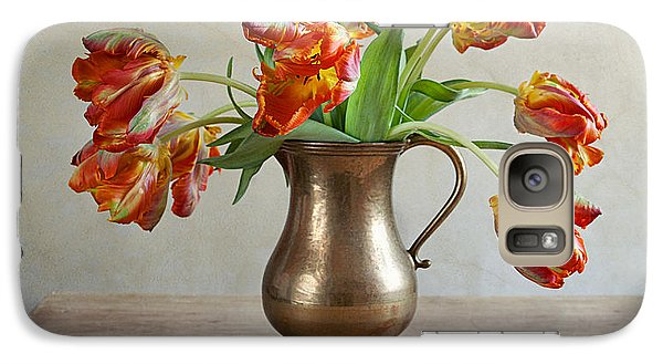 Tulip Galaxy S7 Case - Still Life With Tulips by Nailia Schwarz