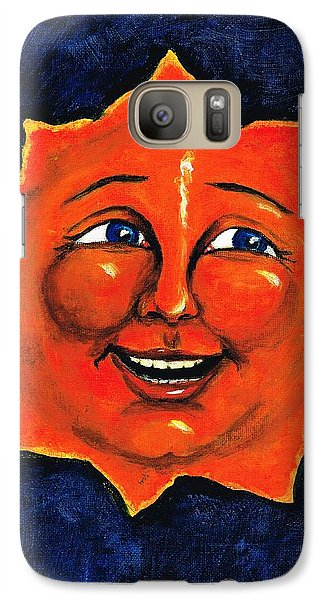 Galaxy Case featuring the painting Sun by Sarah Farren