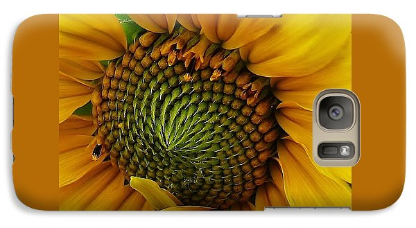 Galaxy Case featuring the photograph Sunflower Close Up by Bruce Bley