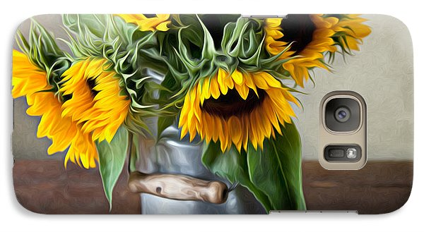 Sunflower Galaxy S7 Case - Sunflowers by Nailia Schwarz