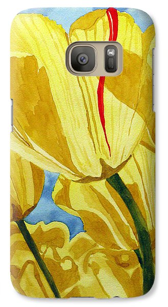 Galaxy Case featuring the painting Tender Tulips by Debi Singer