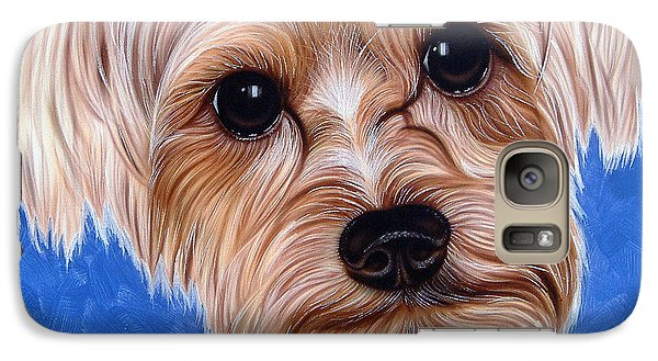 Galaxy Case featuring the painting Terrier by Dan Menta