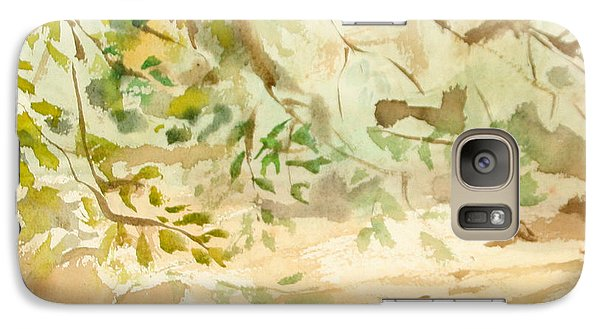Galaxy Case featuring the painting The Breeze Between by Daun Soden-Greene