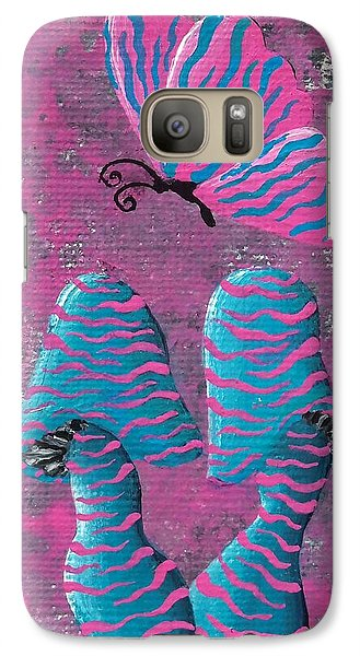 Galaxy Case featuring the painting The Zebra Effect by Oddball Art Co by Lizzy Love