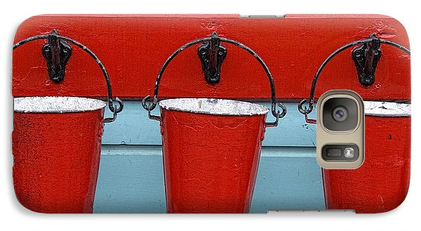 Galaxy Case featuring the photograph Three Red Buckets by John Short