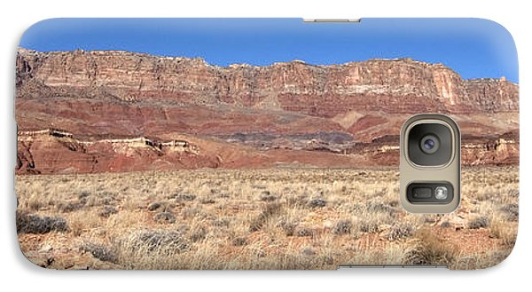 Galaxy Case featuring the photograph Vermillion Cliffs Panorama by Bob and Nancy Kendrick