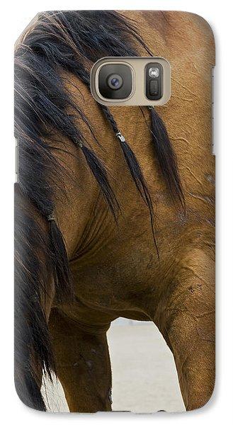 Galaxy Case featuring the photograph War Horse by Lorraine Devon Wilke