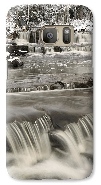 Galaxy Case featuring the photograph Waterfalls With Fresh Snow Thunder Bay by Susan Dykstra