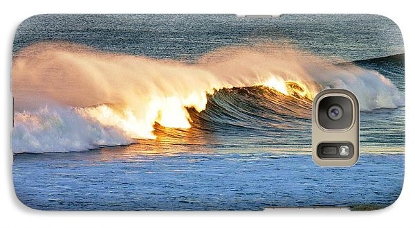 Galaxy Case featuring the photograph Wave At Sunrise by Werner Lehmann
