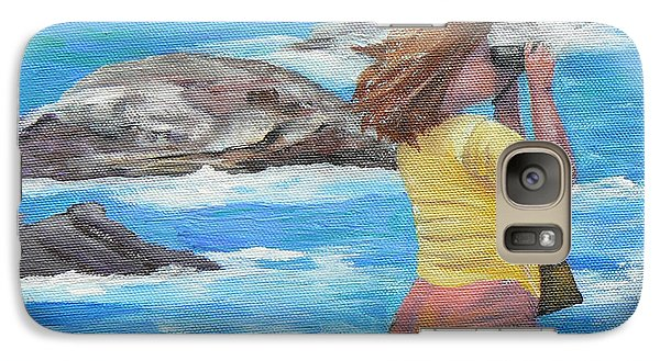 Galaxy Case featuring the painting What's Out There by Terry Taylor