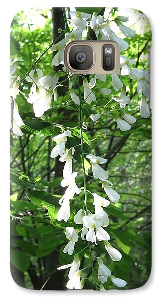 Galaxy Case featuring the photograph White Floral  by Rebecca Overton