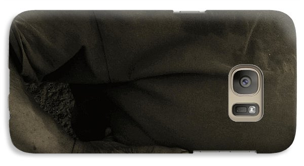 Galaxy Case featuring the photograph Working Man by Lin Haring