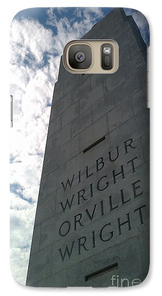 Galaxy Case featuring the sculpture Wright Brothers Memorial by Tony Cooper
