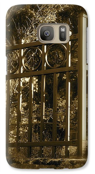 Galaxy Case featuring the photograph Wrought Iron Fence by Robin Regan