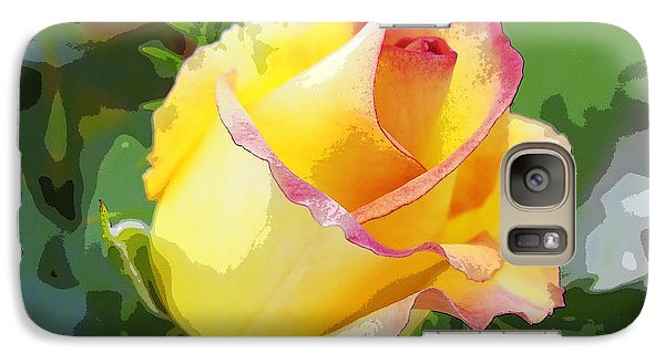 Galaxy Case featuring the photograph Yellow Rose by Anne Mott