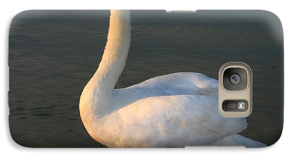 Galaxy Case featuring the photograph Swan by Odon Czintos