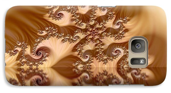 Galaxy Case featuring the digital art  Fractal Reflection by Odon Czintos