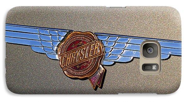 Galaxy Case featuring the photograph 1937 Chrysler Airflow Emblem by Gordon Dean II