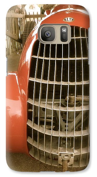 Galaxy Case featuring the photograph 1938 Alfa Romeo 308c Front Grill by John Colley