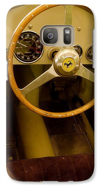Galaxy Case featuring the photograph 1952 Ferrari 500 625 Cockpit by John Colley