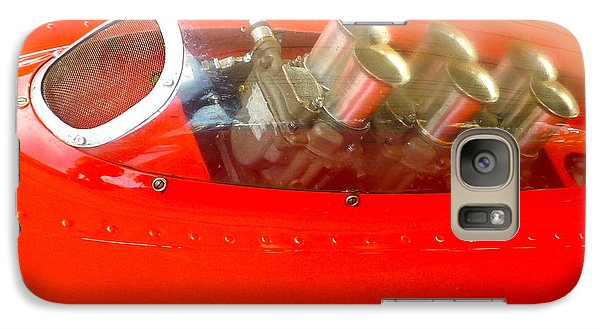 Galaxy Case featuring the photograph 1960 Ferrari 246s Dino Hood Detail by John Colley