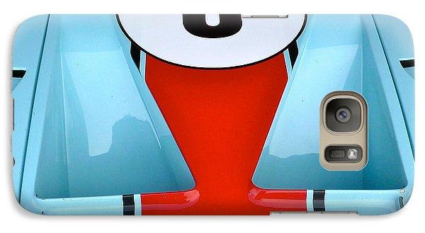 Galaxy Case featuring the photograph 1965 Ford Gt40 Hood Detail by John Colley