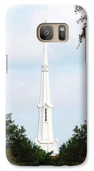 Galaxy Case featuring the photograph 1st Christian Steeple by Kay Lovingood