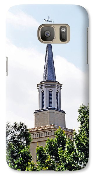 Galaxy Case featuring the photograph 1st Presbyterian Steeple by Kay Lovingood