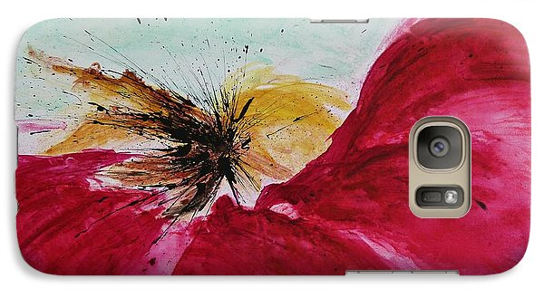 Galaxy Case featuring the painting Abstract Flower  by Ismeta Gruenwald