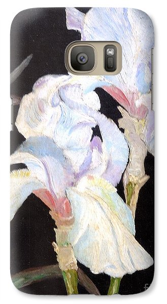 Galaxy S7 Case featuring the painting Blue Iris by Rod Ismay