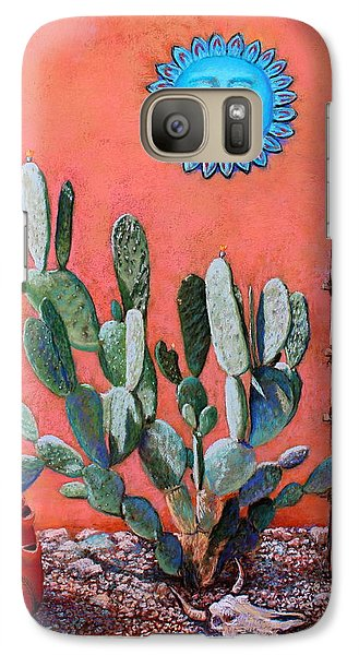 Galaxy Case featuring the painting Blue Sun by M Diane Bonaparte