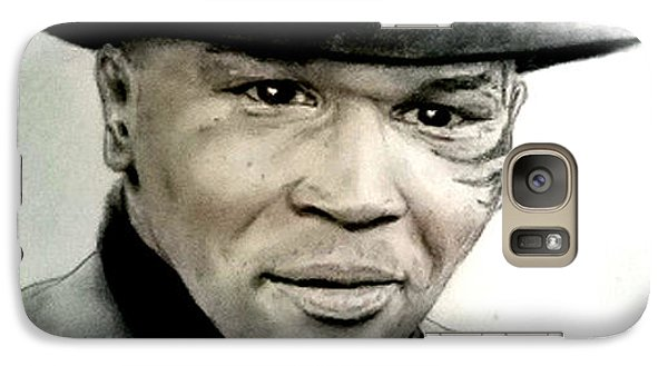 Galaxy Case featuring the pastel Champion Boxer And Actor Mike Tyson by Jim Fitzpatrick