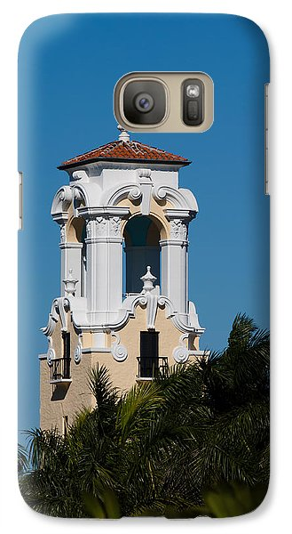 Galaxy Case featuring the photograph Congregational Church Tower by Ed Gleichman