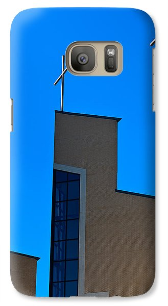 Galaxy Case featuring the photograph Crosses Of Livingway Church by Ed Gleichman