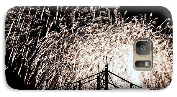 Galaxy Case featuring the photograph Fireworks by Michael Dorn