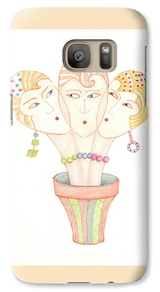 Galaxy Case featuring the painting Flower Pot Ladies by Nareeta Martin