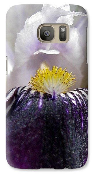 Galaxy Case featuring the photograph Miniature Tall Bearded Iris Named Consummation by J McCombie